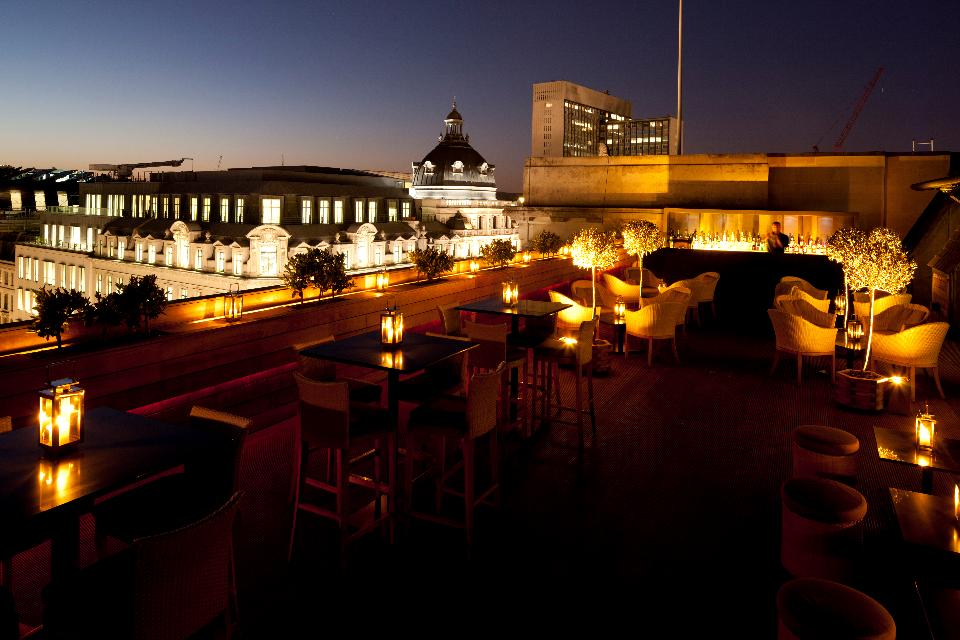 Sip on a cocktail on aqua london's terrace bar from 3pm onwards